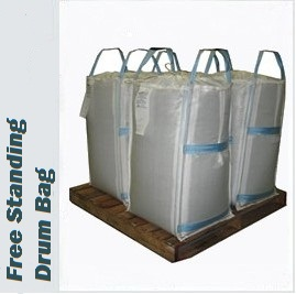 Picture of Free Standing DRum Bags on a Pallet